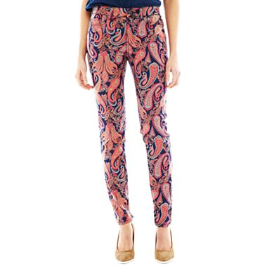 Joe Fresh Paisly Print Jean