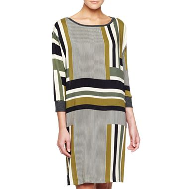MNG by Mango Striped Sheath Dress