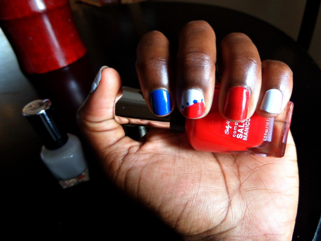 Red, White, and Blue Manicure