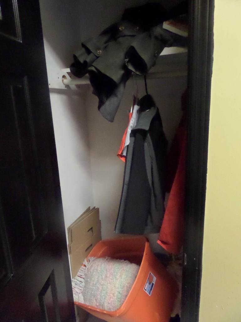 Inside of the coat closet