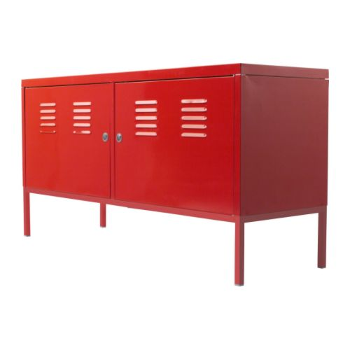Ikea red cabinet