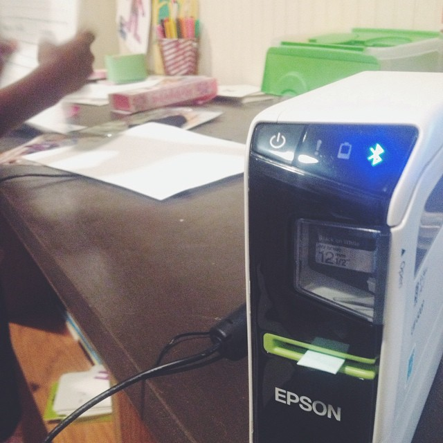 Getting ready to put this blue tooth enabled Epson Label Works LW-600p to work getting some order in this play room #organizing #labels #MimiBlogs #sponsored