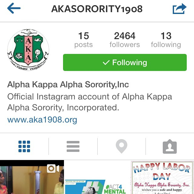 If you didn't know @akasorority1908 is now on IG. #alphakappaalpha