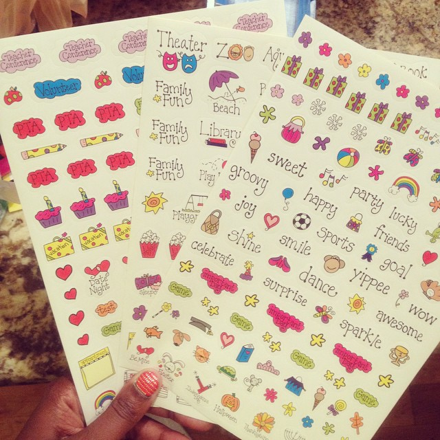 Blaming @helpmamaremote and @theposhblog for this #DollarTree purchase. I don't even have my new planner yet. #stickers #Planners