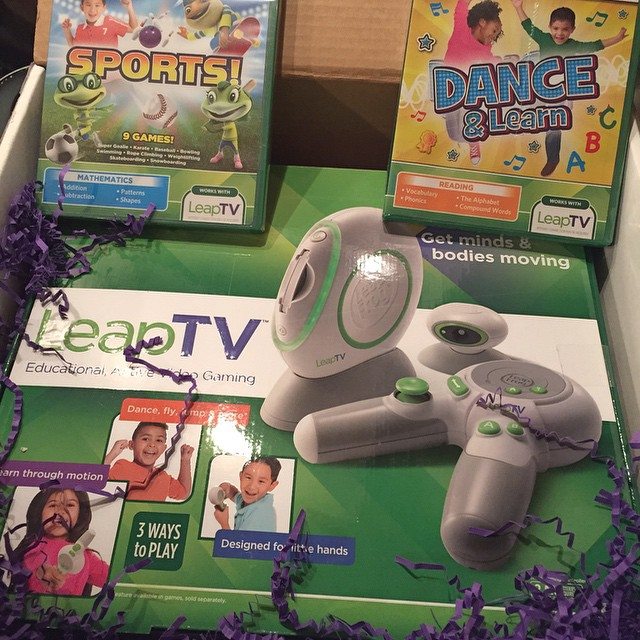 I think I might be more excited about this than the kids. Review coming!! #LeapTV #sponsored #MimiBlogs