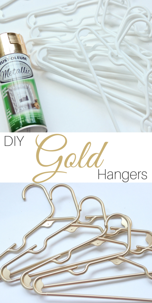 Super easy DIY spray painted hangers | www.lipglossandbinky.com