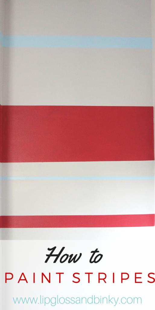 How to paint a straight, crisp line www.lipglossandbinky.com