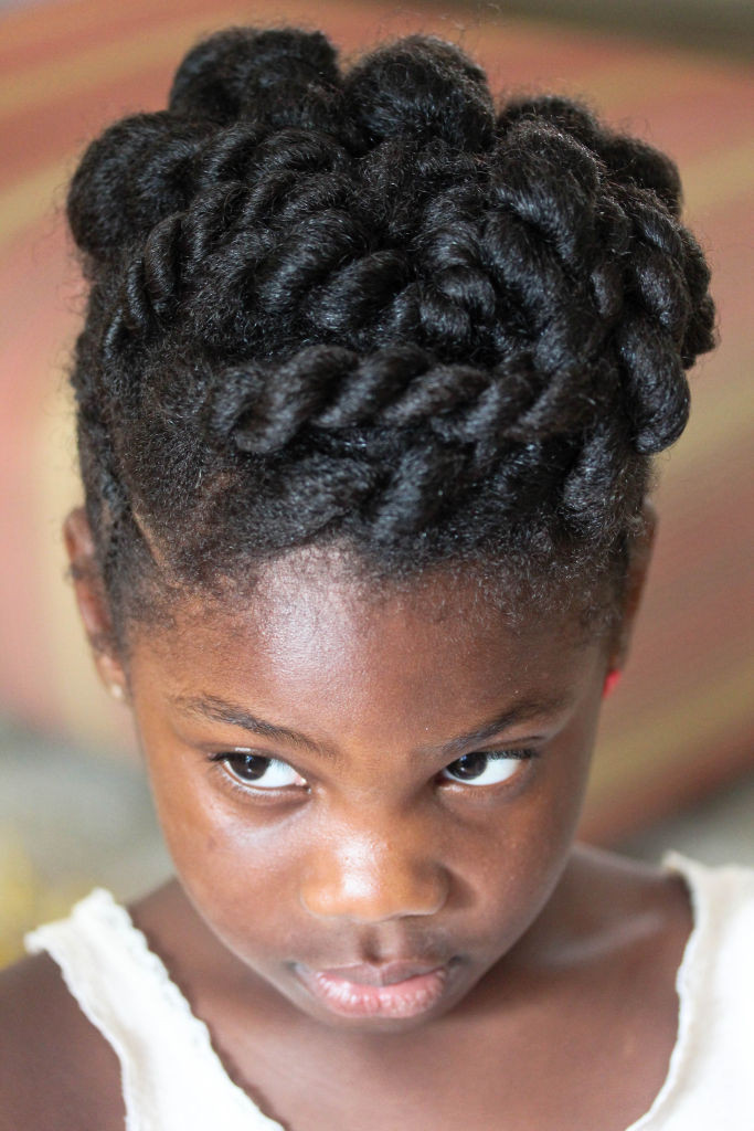 Natural Hair Kids Protective Style