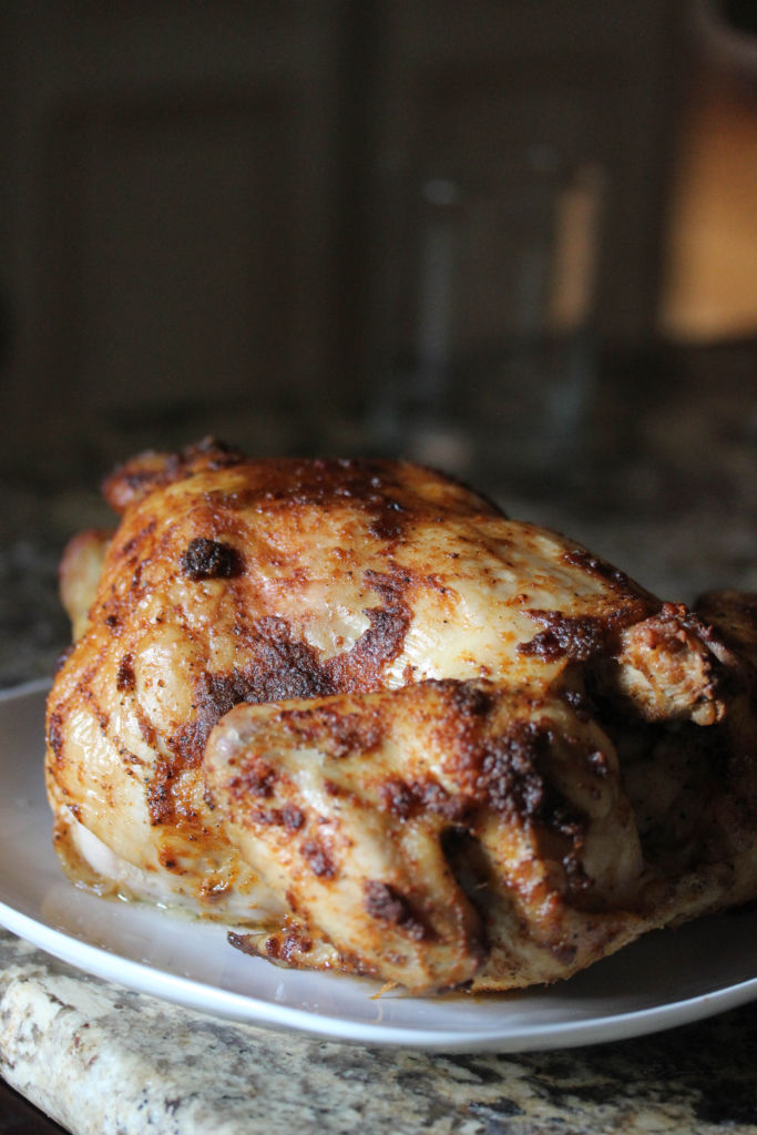 How to make the perfect oven roasted rotisserie style chicken.